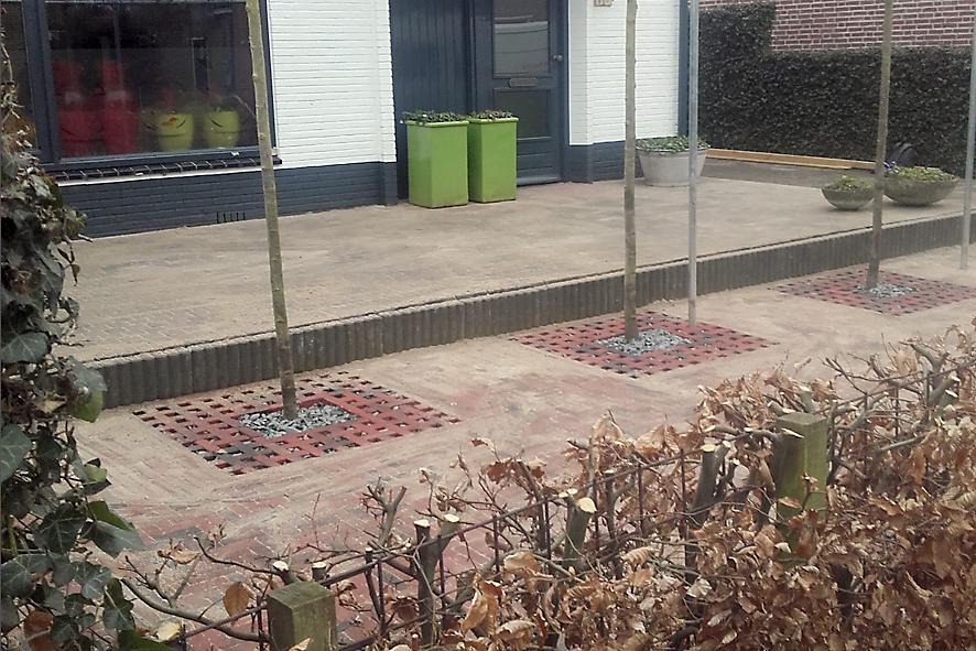 straatwerk bomen terras Andre Raterink Bestratingen